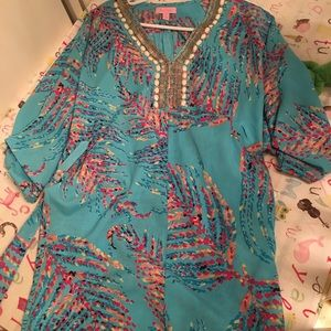 Lilly Pulitzer beaded caftan or beach coverup